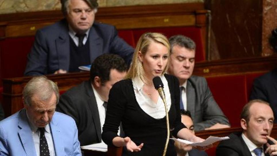 Marion Marechal-Le Pen à l'assemblée nationale le 16 décembre 2014 à Paris