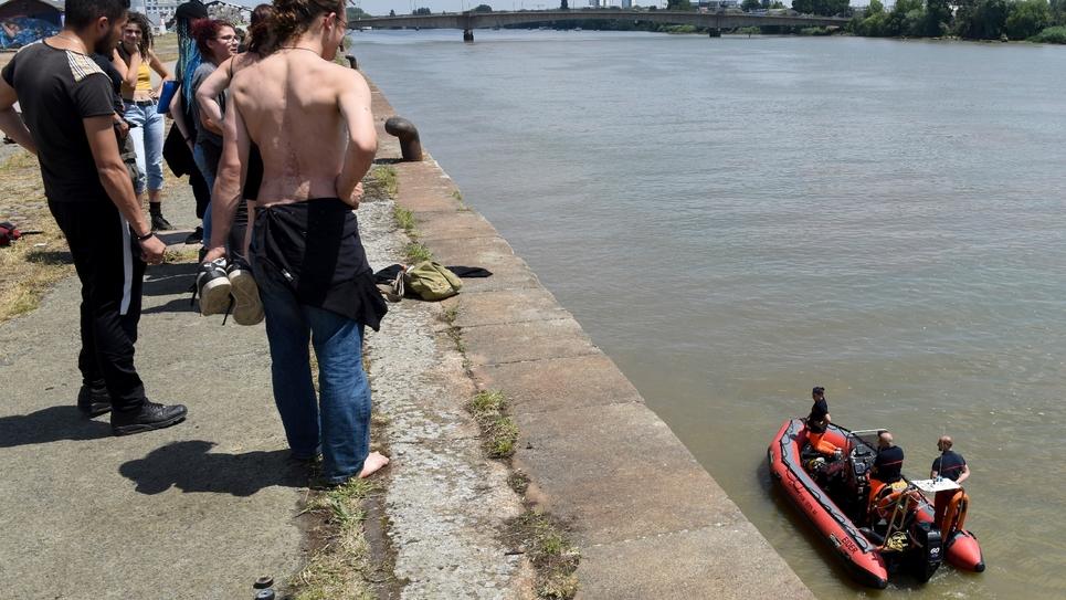 Le quai Wilson à Nantes lors des recherches pour retrouver Steve, le 25 juin 2019