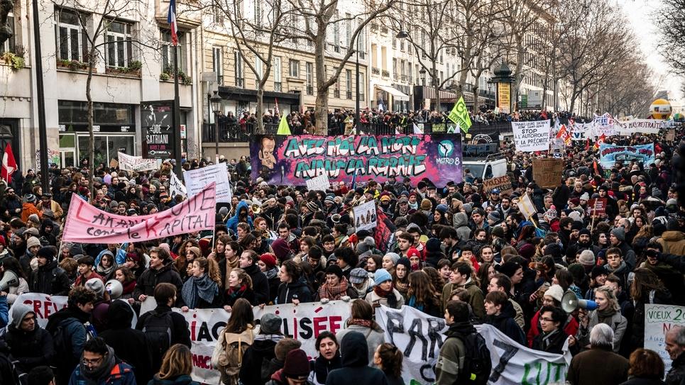 Manifestation contre la réforme des retraites, le 24 janvier 2020 à Paris