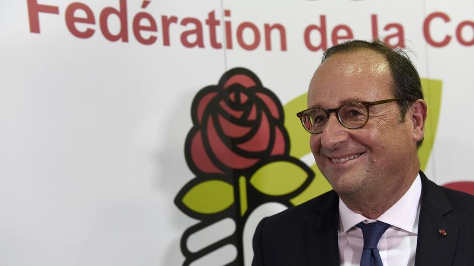 L'ex-chef de l'Etat François Hollande à Tulle dans son ancien fief corrézien le 23 septembre 2018