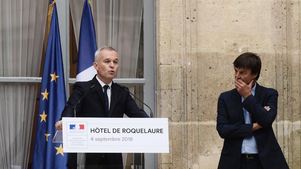 Passation entre Francois de Rugy et Nicolas Hulot, le 4 septembre 2018