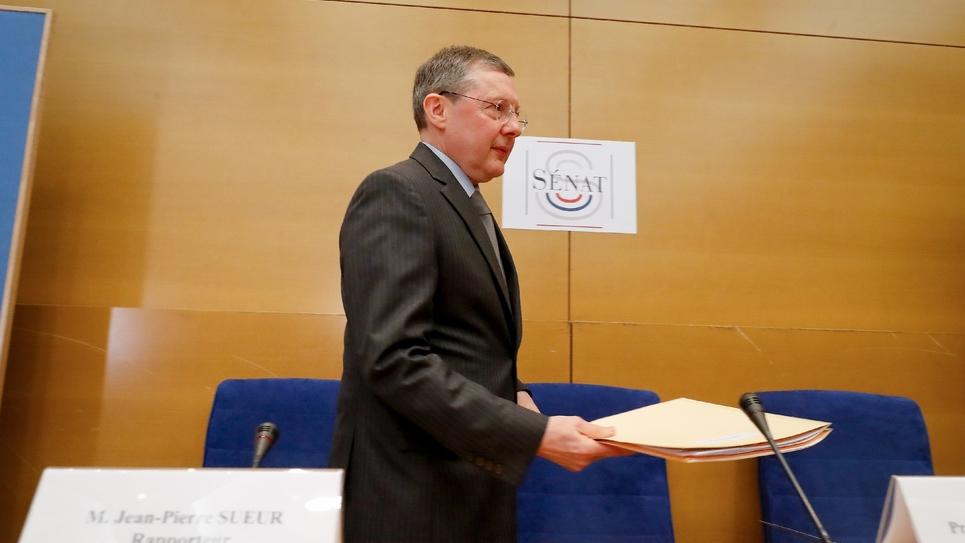 Le président (LR) de la commission des Lois du Sénat, Philippe Bas, le 20 février 2019 à Paris