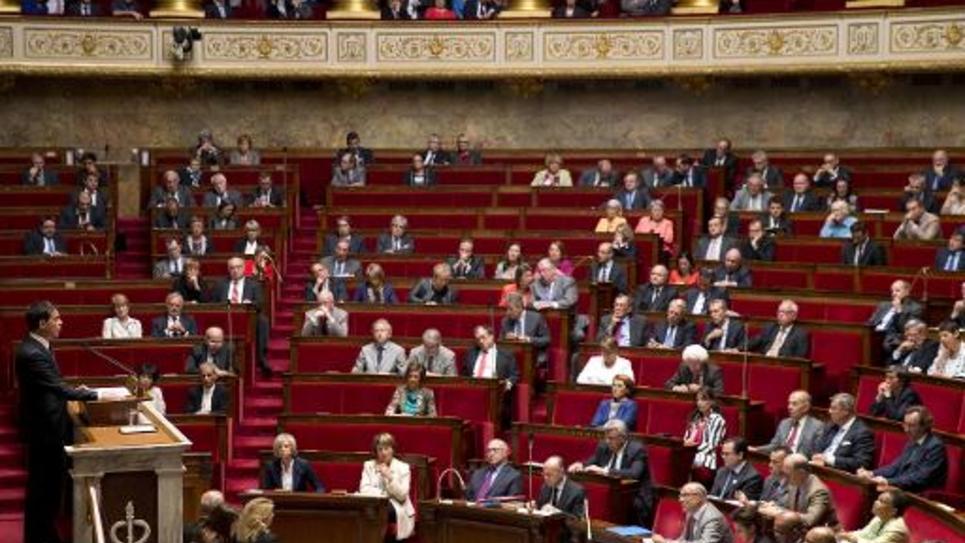L'Assemblée nationale le 24 septembre 2014, lors du débat sur l'engagement français en Irak