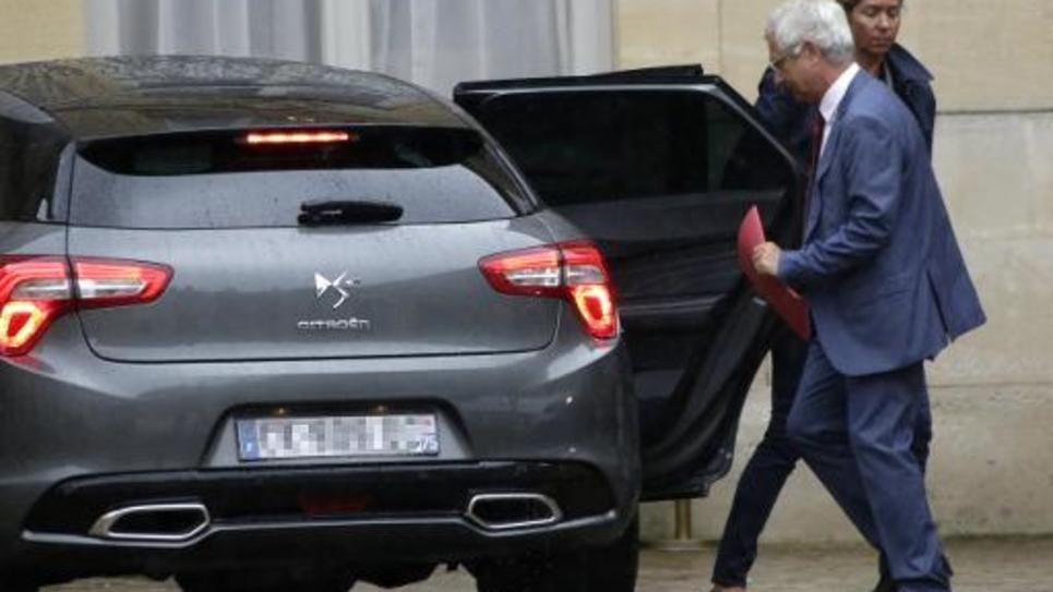 Claude Bartolone le 25 août 2014 dans la cour de Matignon à Paris