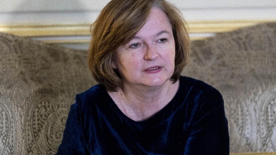 Nathalie Loiseau à l'ambassade de France à Londres, le 7 mars 2019