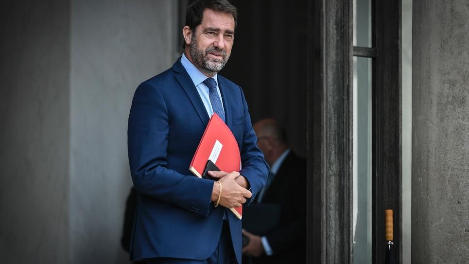 Christophe Castaner,  ministre de l'Intérieur,  à la sortie d'un Conseil des ministres en 2018