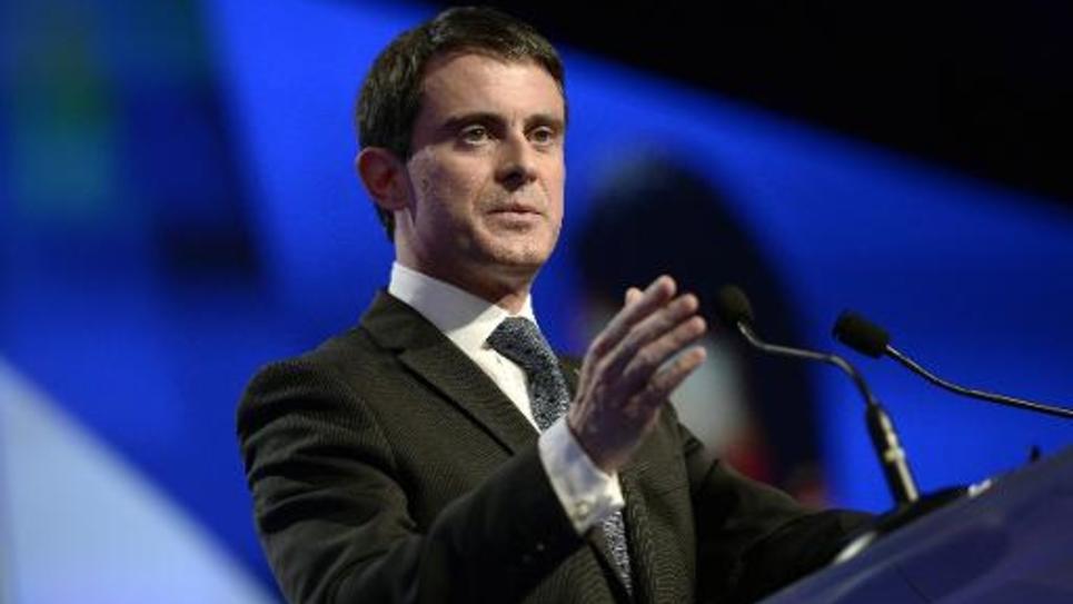 Le Premier ministre Manuel Valls au Congrès des maires de France, le 27 novembre 2014 à Paris