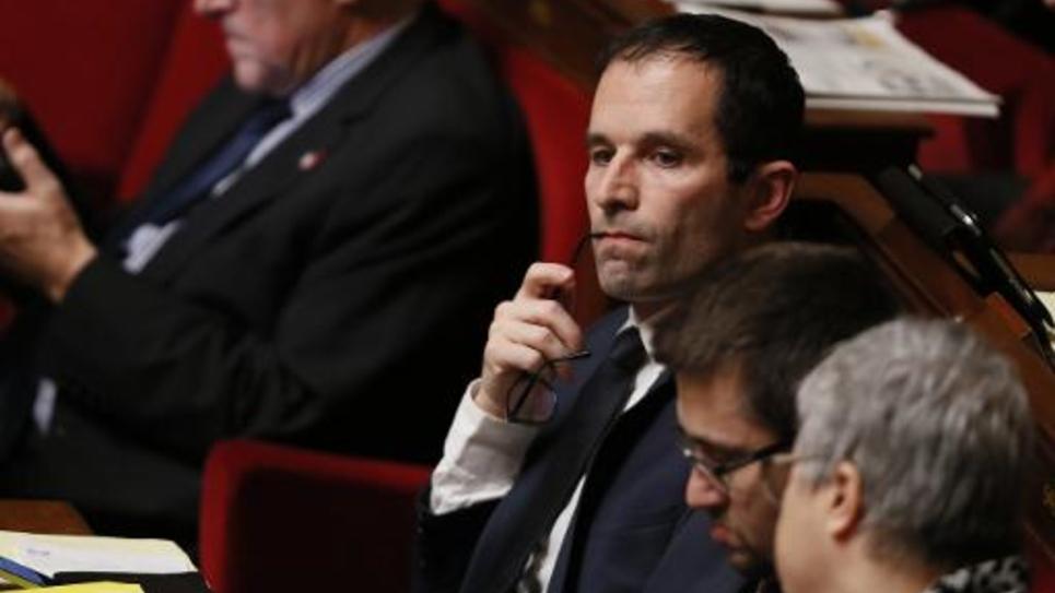 La député socialiste Benoit Hamon à l'Assemblée nationale à Paris le 17 février 2015