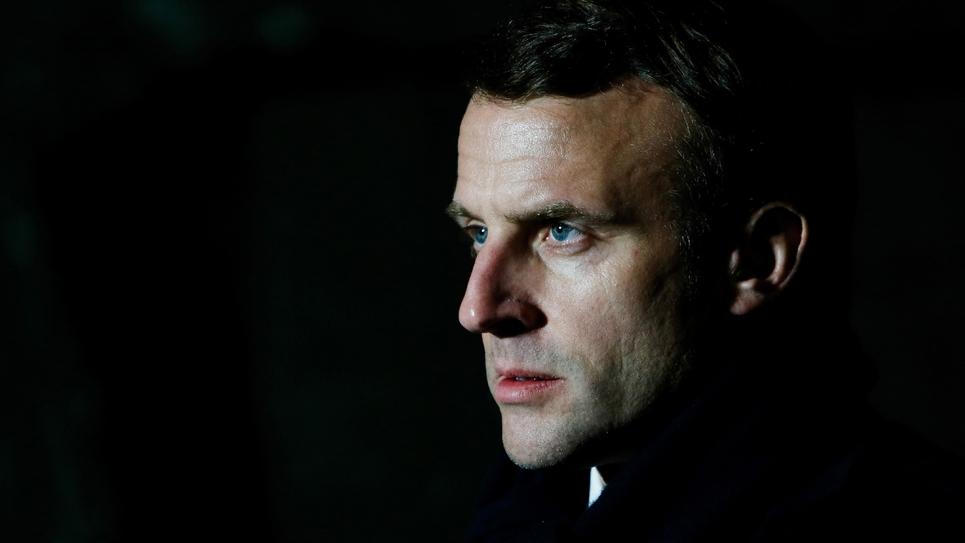 Emmanuel Macron à Mulhouse, le 26 mars 2020