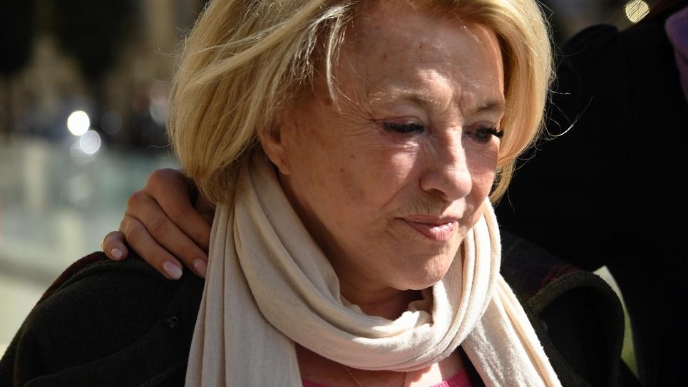 Maryse Joissains-Masini à son arrivée à la cour d'appel de Montpellier, le 13 mars 2019