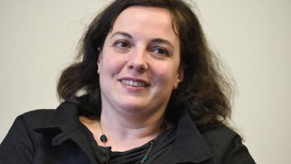 La secrétaire nationale d'EELV, Emmanuelle Cosse, lors d'une conférence de presse à Montpellier le 6 mai 2014
