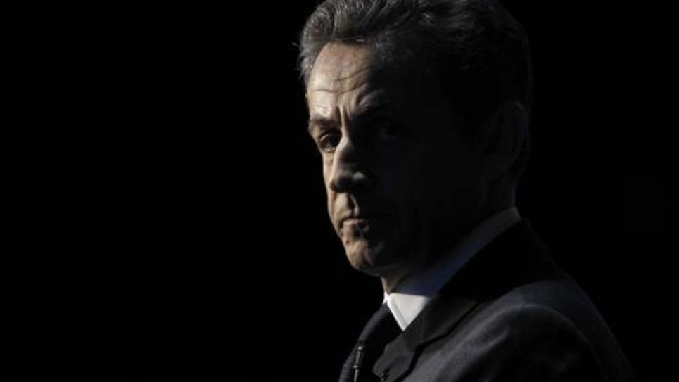 Nicolas Sarkozy, pendant la campagne présidentielle, le 10 avril 2012, à Paris