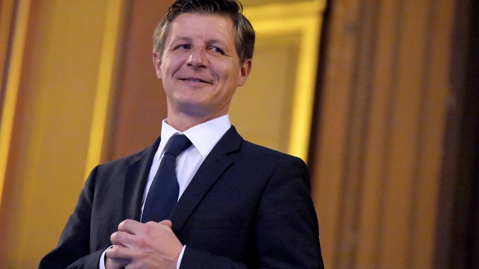 Nicolas Florian, nouveau maire de Bordeaux, le 7 mars 2019 à Bordeaux