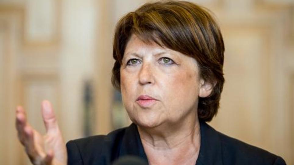 La maire de Lille et ex-numéro un du PS Martine Aubry le 8 septembre 2014 à Lille