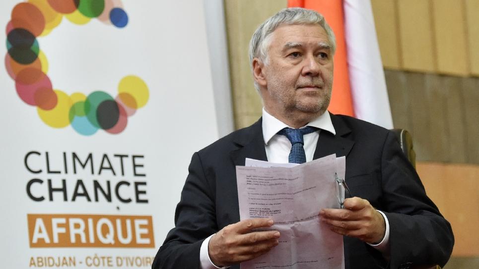 Le sénateur français Ronan Dantec le 28 juin 2018 à Abidjan en Côte d'Ivoire