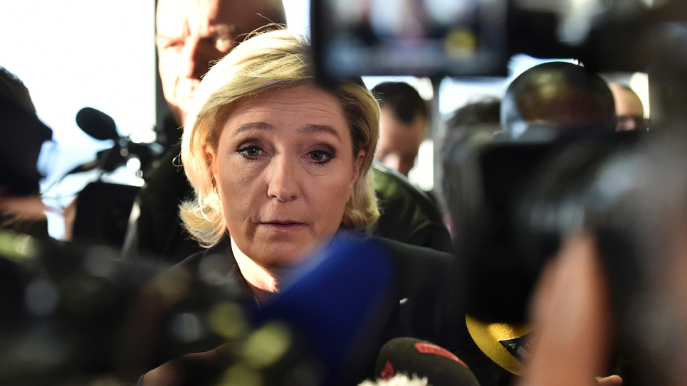 Marine Le Pen à Forbach, dans l'est de la France, le 18 janvier 2017