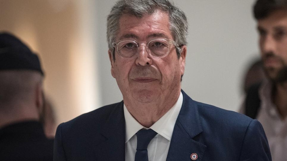 Patrick Balkany quitte le tribunal correctionnel de Paris au premier jour de son procès, le 13 mai 2019