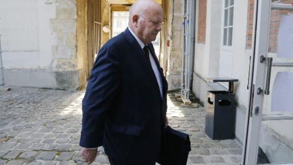 Le député-maire d'Issy-Les-Moulineaux André Santini à Versailles, le 22 septembre 2014