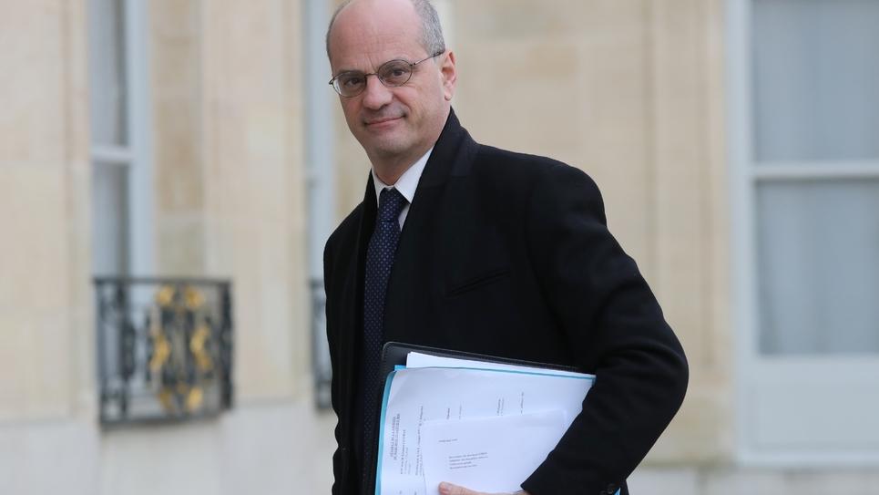 Jean-Michel Blanquer à l'Elysée le 15 janvier 2020