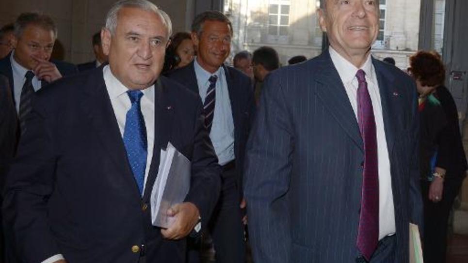 Jean-Pierre Raffarin et Alain Juppé le 6 juin 2014 à Bordeaux