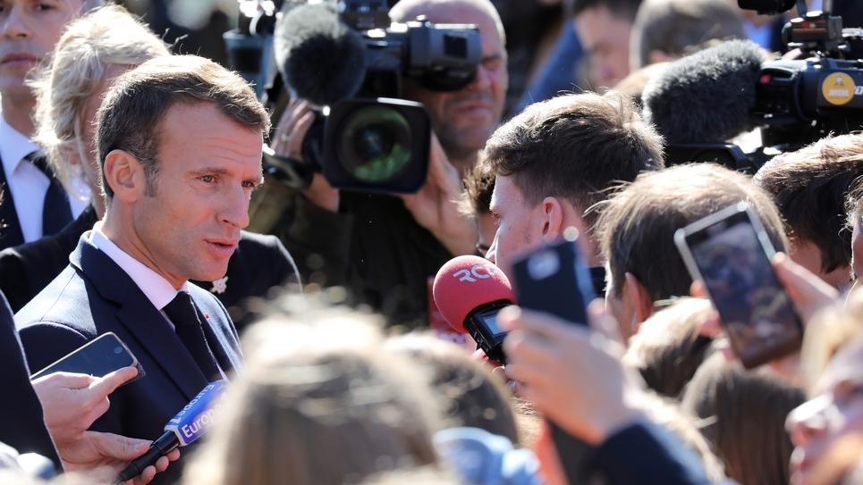 Emmanuel Macron à Colombey-les-Deux-Eglises, le 4 octobre 2018