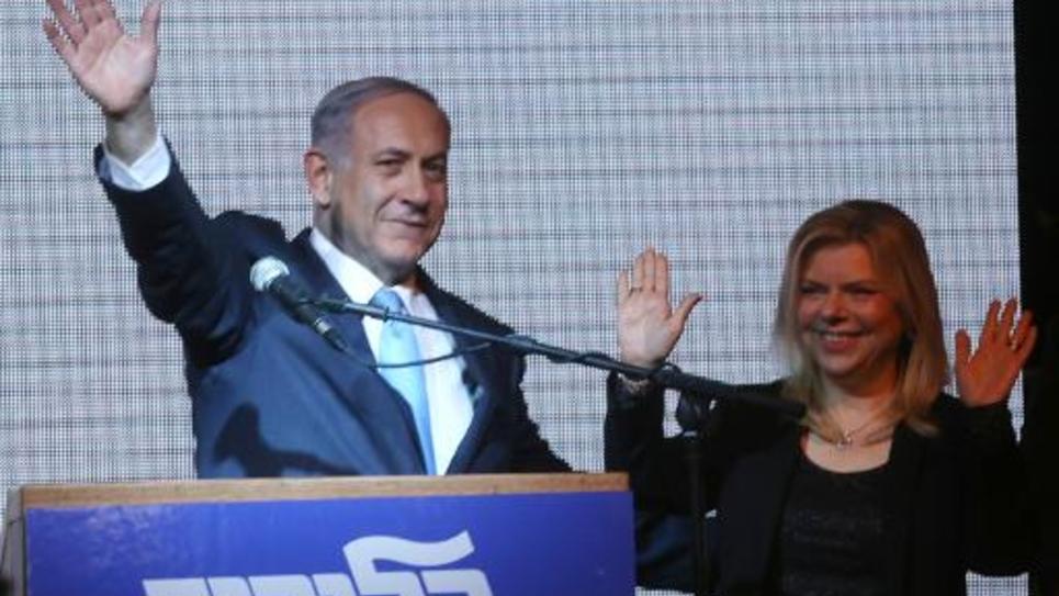 Le Premier ministre israélien Benjamin Netanyahu après sa victoire aux législatives, le 17 mars 2015 à Tel-Aviv