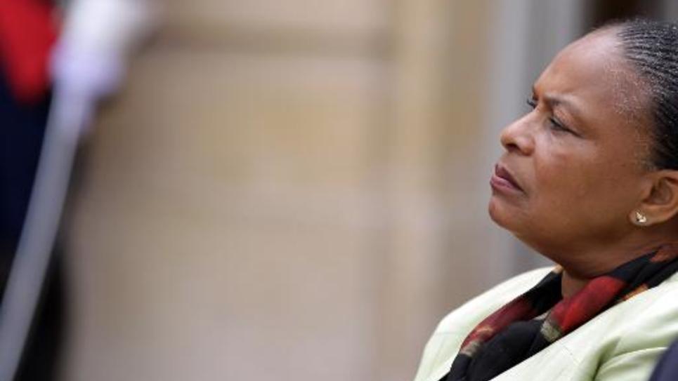 Christiane Taubira, le 28 mai 2015 à Matignon