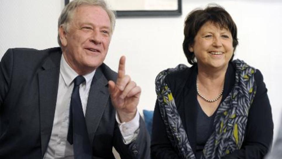 Pierre de Saintignon et Martine Aubry le 10 mars 2014 à Lille