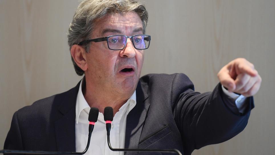 Le dirigeant de la France Insoumise Jean-Luc Mélenchon lors d'une conférence de presse le 12 septembre 2019 à Paris
