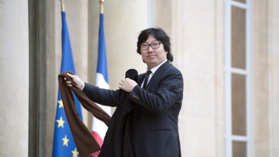 Le sénateur EELV Jean-Vincent Placé arrive à l'Elysée à Paris, le 27 novembre 2014