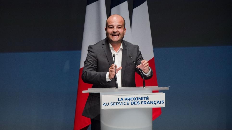 Le maire RN de Fréjus David Rachline, le 15 septembre 2019 à Fréjus