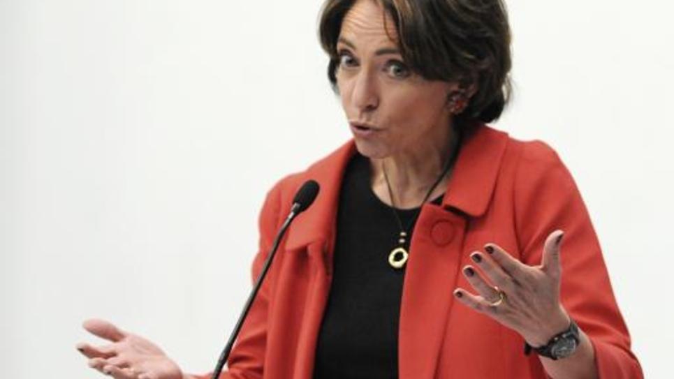 La ministre de la Santé Marisol Touraine, le 19 décembre 2014 à Coulaines, dans la Sarthe