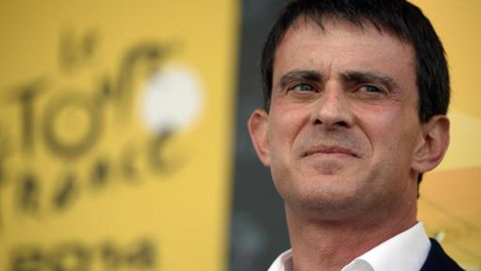 Le Premier ministre Manuel Valls le 19 juillet 2014 à Risoul