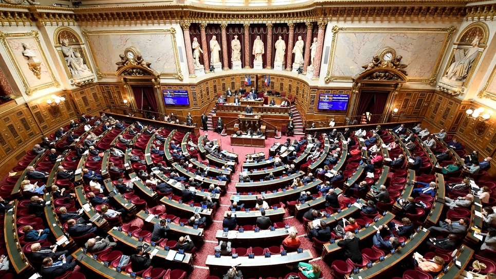 Jean Castex prononce sa déclaration de politique générale devant le Sénat, à Paris le 16 juillet 2020