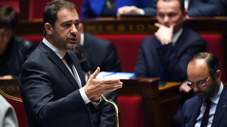 Christophe Castaner lors des questions au gouvernement à l'Assemblée nationale le 14 novembre