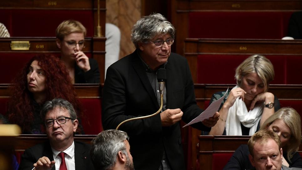 Les députés de la France Insoumise, dont Eric Coquerel (D) et Jean-Luc Mélenchon (G), lors de la séance des questions au gouvernement le 8 octobre 2019