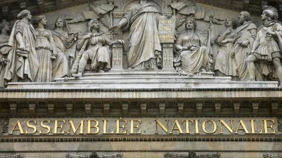 La façade de l'Assemblée nationale à Paris