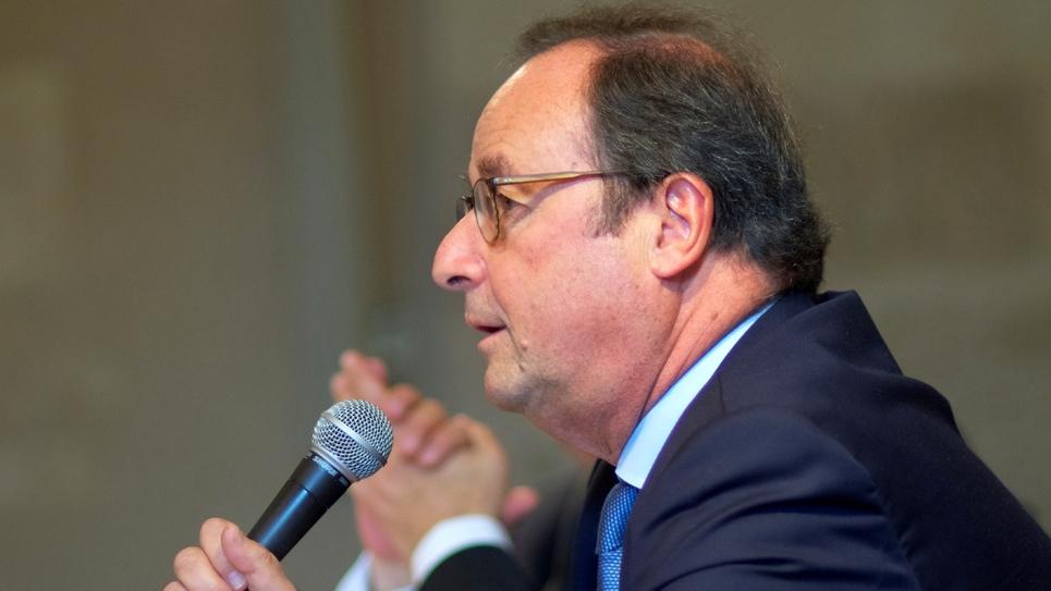 L'ancien président François Hollande lors d'un meeting à Blois, le 14 octobre 2018