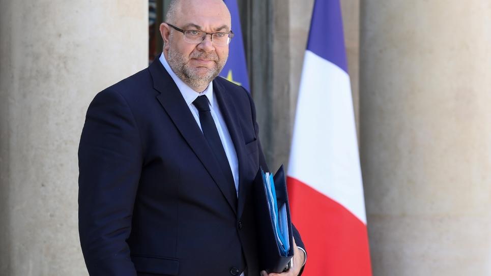 Le ministre de l'Agriculture et de la pêche Stéphane Travert à l'Elysée à Paris le 27 juin 2018