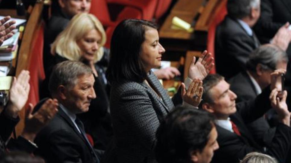 La députée et ex-ministre écologiste Cécile Duflot à l'Assemblée nationale le 2 décembre 2014 à Paris