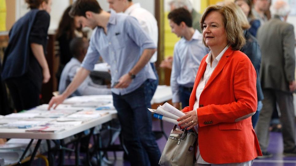 Nathalie Loiseau, tête de liste LREM pour les élections européennes, vote aux européennes, le 26 mai 2019 à Paris