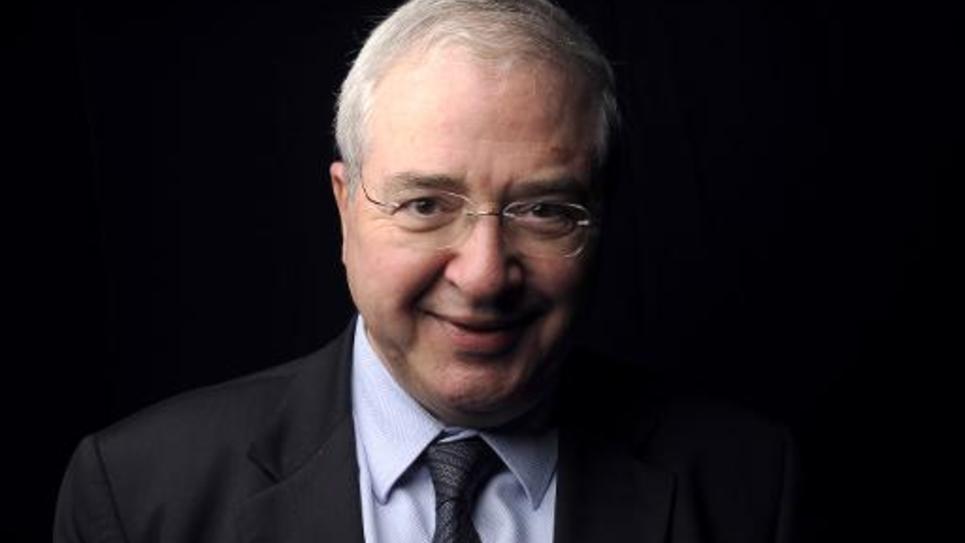 Jean-Paul Huchon, l'actuel président (PS) de la Région Ile-de-France, le 11 janvier 2012 à Paris