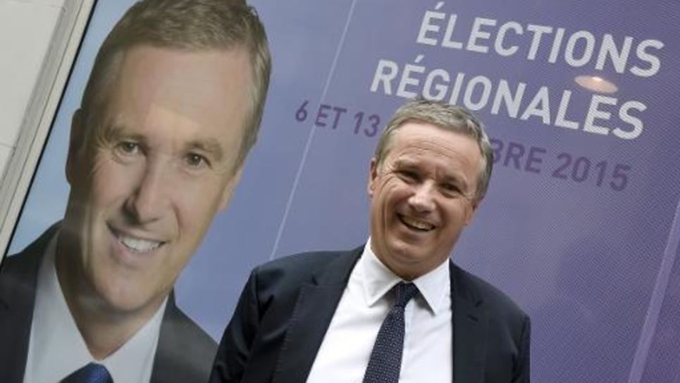 Nicolas Dupont-Aignan, président de Debout la France, le 12 mai 2015 à Paris