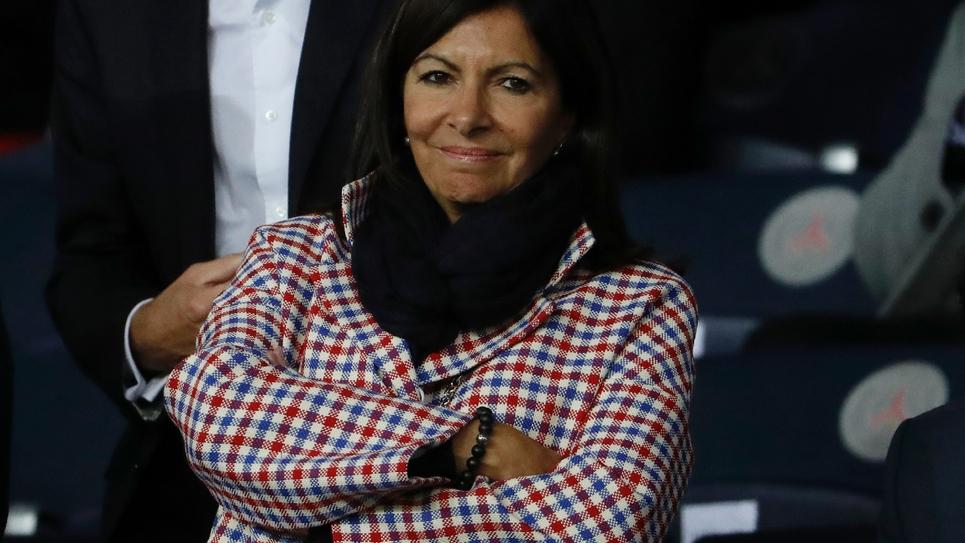 Anne Hidalgo, la maire PS de Paris, avant un match PSG/Real Madrid au Parc des Princes, le 18 septembre 2019 à Paris