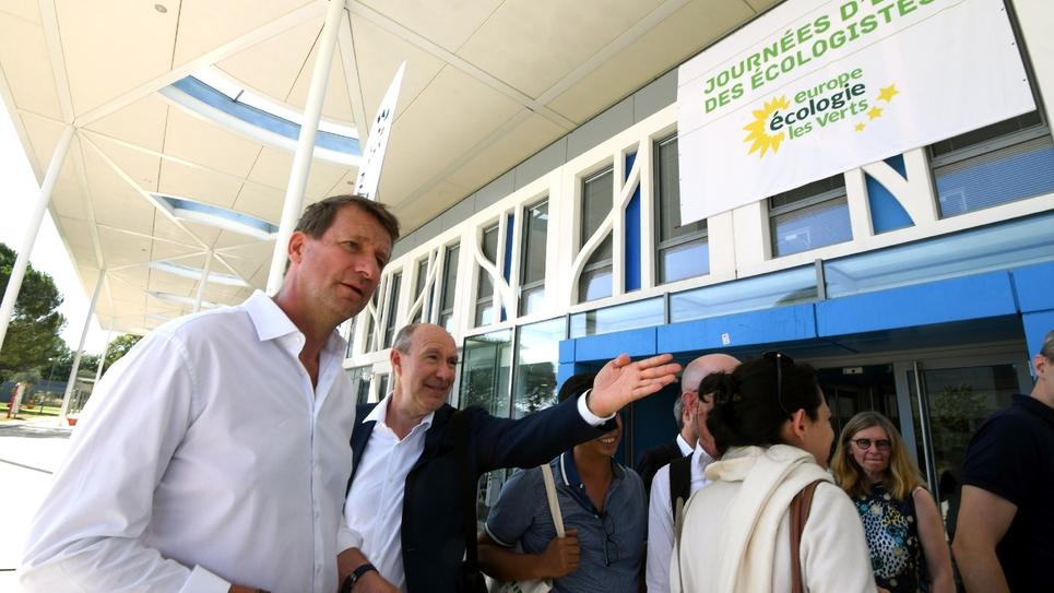 Le député européen EELV Yannick Jadot à l'ouverture des journées d'été des écologistes, le 22 août 2019 à Toulouse