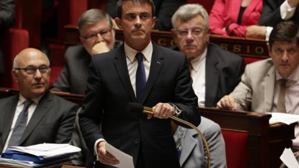 Le Premier ministre, Manuel Valls, à l'Assemblée nationale, le 16 juin 2015