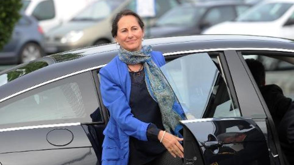 La ministre de l'Ecologie Ségolène Royal à la centrale nucléaire de Civaux, le 25 août 2014