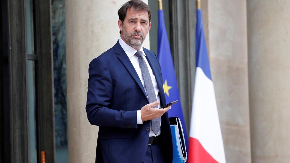 Le ministre de l'Intérieur  Christophe Castaner, quitte l'Elysée le 17 juin 2020