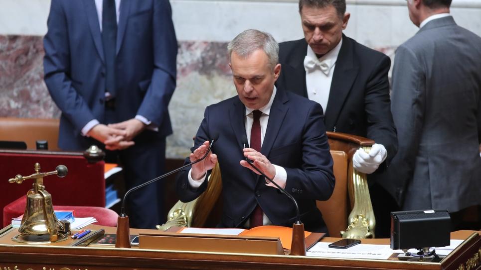 Le président de l'Assemblée nationale François de Rugy lors d'une séance de questions au gouvernement le 10 juillet 2018 à Paris