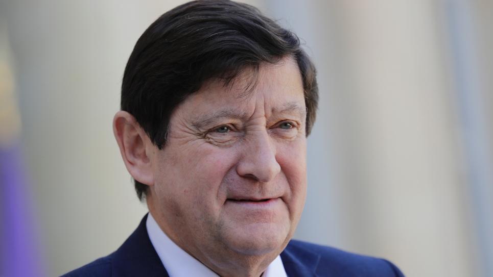 Patrick Kanner, patron des sénateurs socialistes, le 29 mars 2019 à l'Elysée à Paris